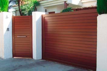 puerta de aluminio automatica en benalmadena